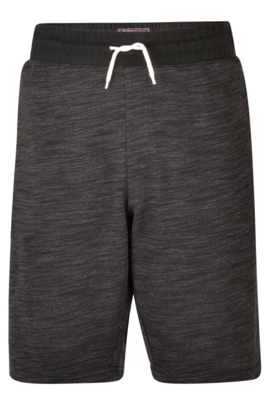 Plus Size Jogger Shorts KAM Charcoal Grey Marl Lounge Jogger Shorts