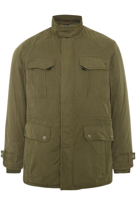 Plus Size Jackets KAM Khaki Padded Jacket