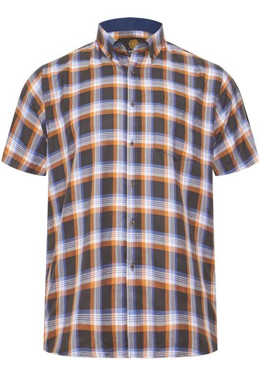 KAM Black Check Premium Shirt