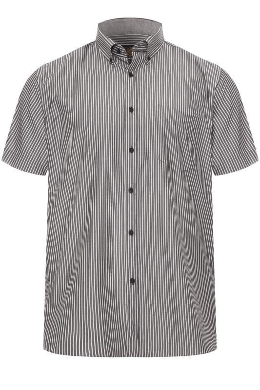 Smart Shirts KAM Charcoal Grey Stripe Premium Shirt 202817