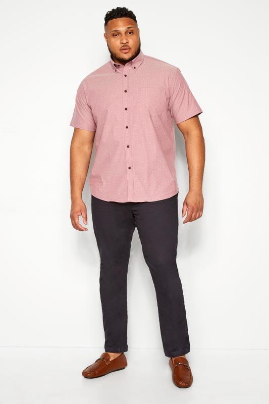 KAM Pink Printed Premium Shirt