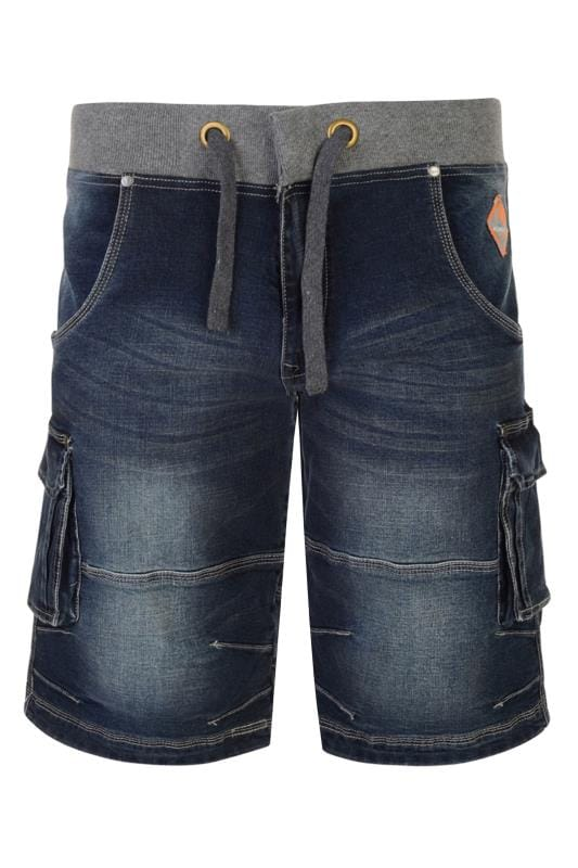 Denim Shorts dla puszystych KAM Dark Blue Denim Shorts