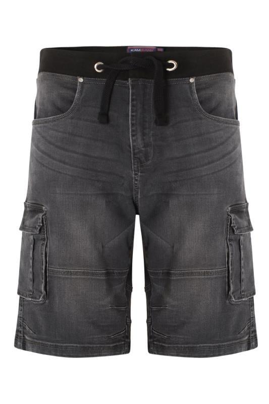Plus-Größen Denim Shorts KAM Charcoal Grey Denim Shorts