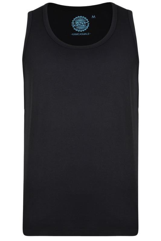 Plus Size Vests KAM Black Vest