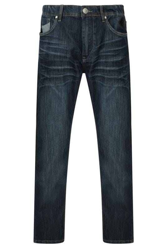 Plus-Größen Casual / Every Day KAM Navy Blue Stretch Denim Jeans