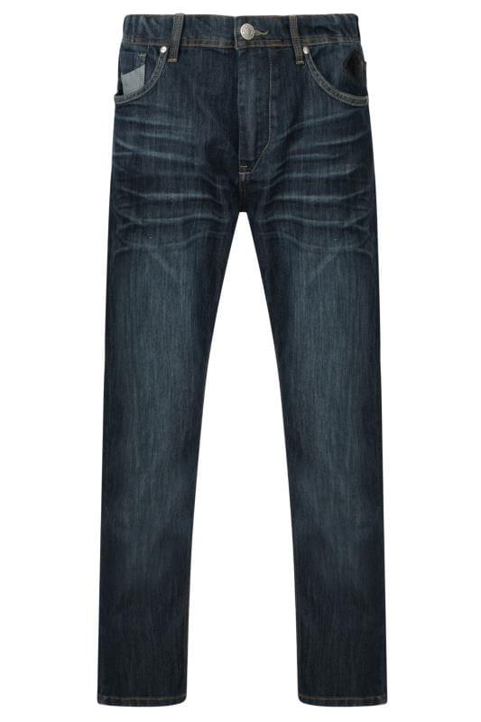 KAM Navy Blue Stretch Denim Jeans