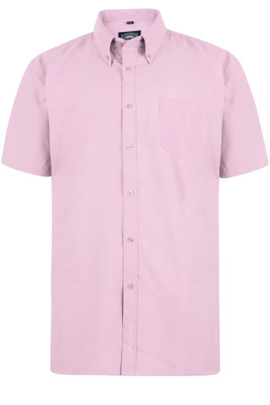 KAM Pink Oxford Short Sleeve Shirt