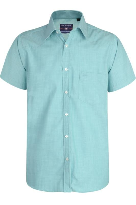 Men's Casual / Every Day KAM Blue Slub Shirt