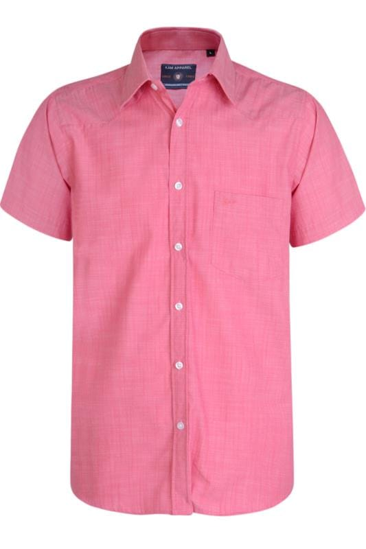 Men's Casual / Every Day Kam Raspberry Print Slub Shirt