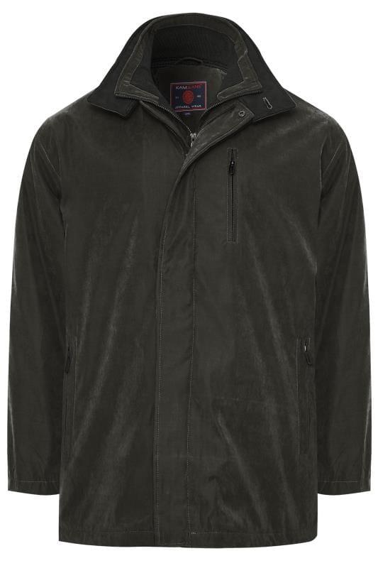 Plus-Größen Hats KAM Black Faux Suede Jacket