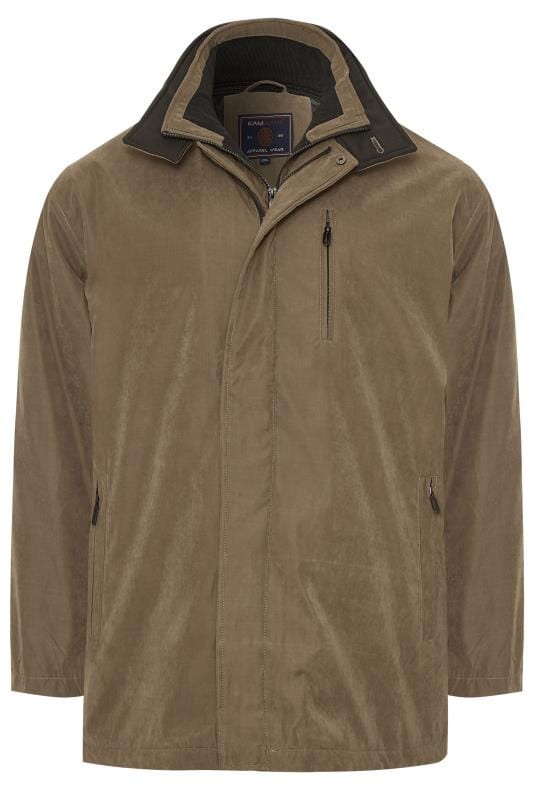 Jackets Tallas Grandes KAM Brown Faux Suede Jacket