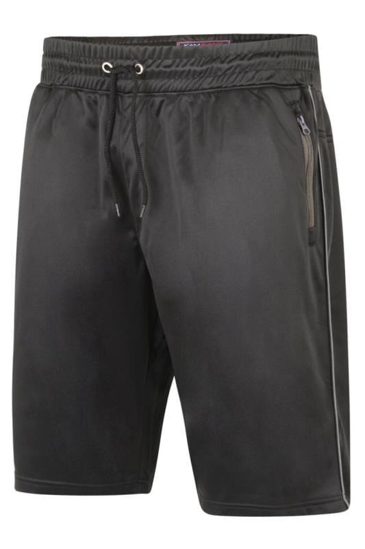 Plus Size Jogger Shorts KAM Black Contrast Sports Shorts