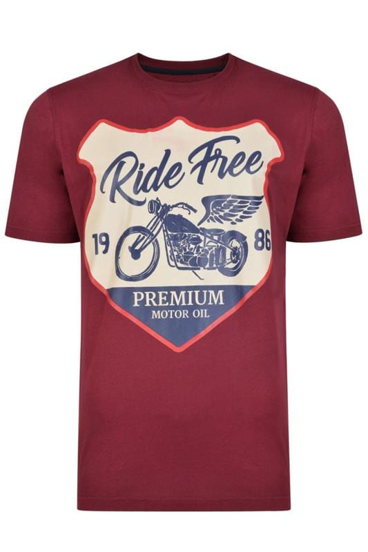 KAM Wine Red Racer Graphic T-Shirt