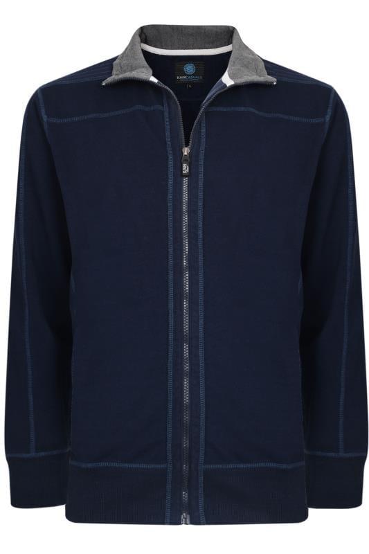 Plus Size Jackets KAM Navy Zip Through Jacket