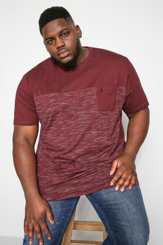 Plus Size T-Shirts Kangol Burgundy Pocket Tee