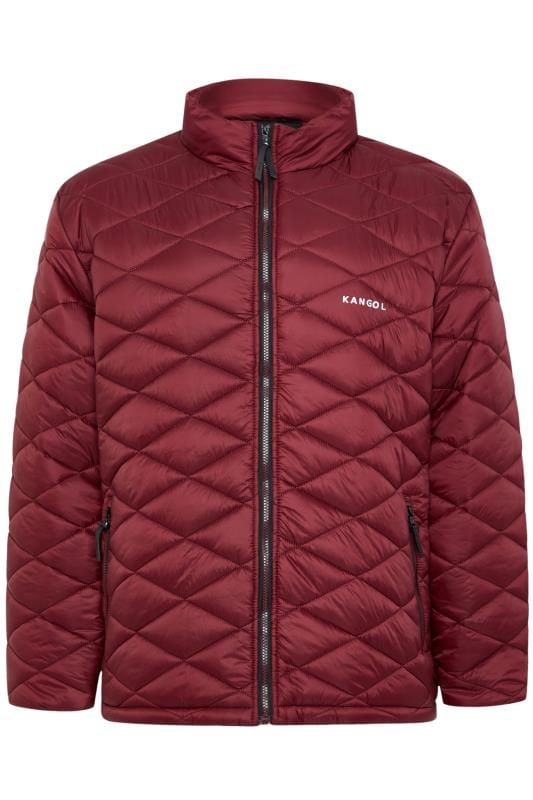 Jackets KANGOL Dark Burgundy Quilted Padded Jacket 201705