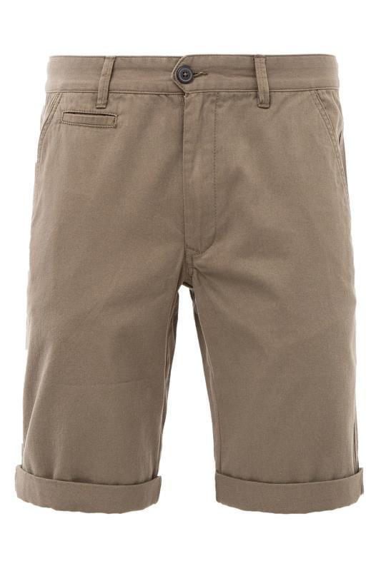 Plus Size Chino Shorts KANGOL Khaki Green Chino Shorts