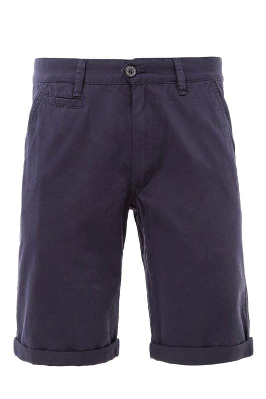 Plus Size Chino Shorts KANGOL Navy Chino Shorts