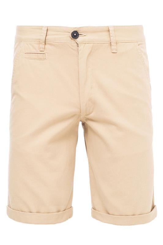 Großen Größen Chino Shorts KANGOL Stone Chino Shorts