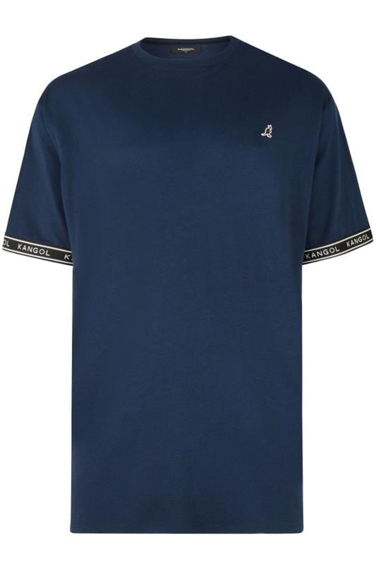 T-Shirts KANGOL Navy Taped Sleeve T-Shirt 201683