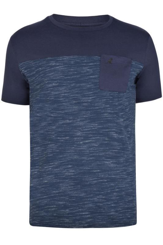 Plus Size T-Shirts Kangol Navy Pocket Tee