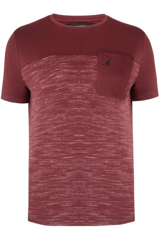 Plus Size T-Shirts Kangol Burgundy Pocket Tee