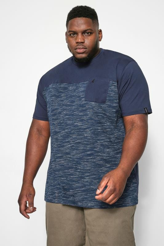 Plus-Größen T-Shirts Kangol Navy Pocket Tee