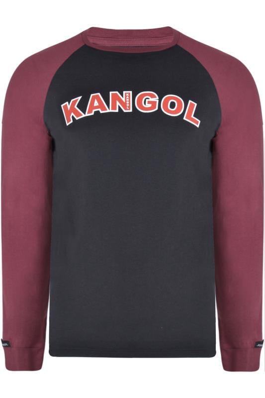 T-Shirts KANGOL Black Long Raglan Sleeve Logo T-Shirt 201692