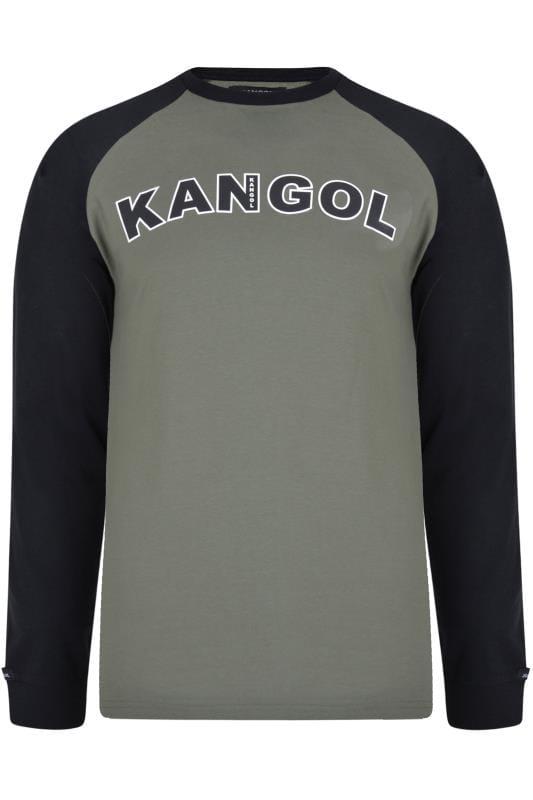KANGOL Khaki Long Raglan Sleeve Logo T-Shirt