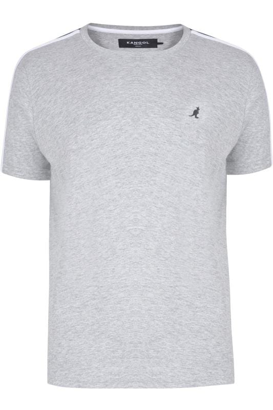T-Shirts KANGOL Grey Marl Contrast Panel T-Shirt 201675