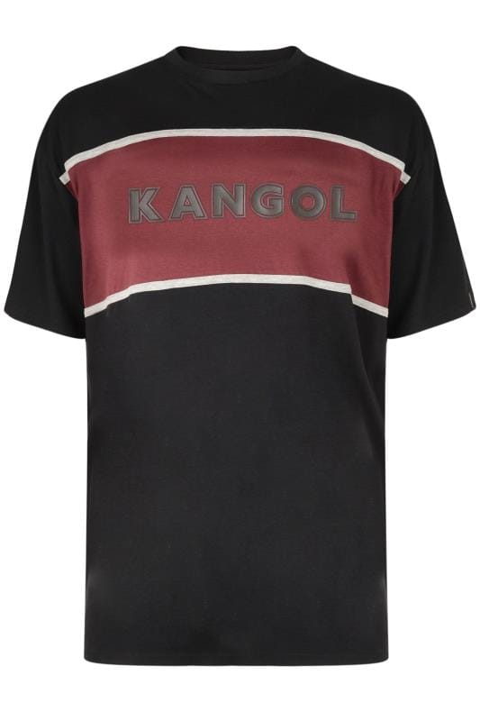 T-Shirts KANGOL Black Colour Block Logo T-Shirt 201684