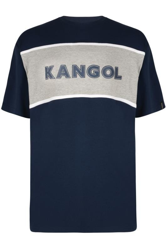 T-Shirts KANGOL Navy Colour Block Logo T-Shirt 201685