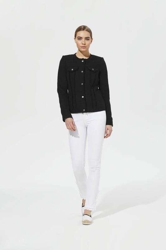 Karl Lagerfeld Paris 5 Pocket Ankle Ruffled Jean