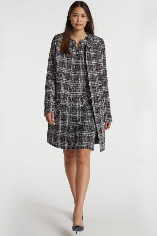 Karl Lagerfeld Paris Tweed Longline Jacket