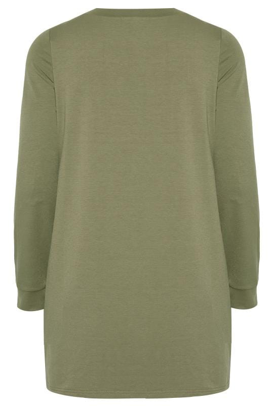 Pullover mit Leo-Muster - Khaki