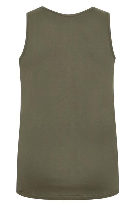 BadRhino Khaki Green Vest Top