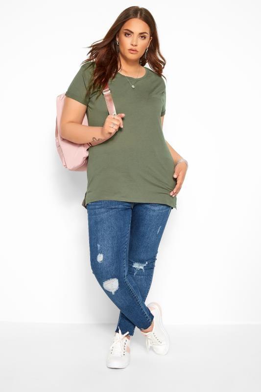 Khaki Mock Pocket T-Shirt
