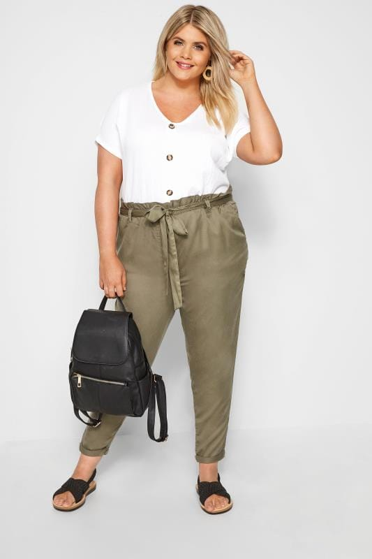 Khaki Tapered Trousers