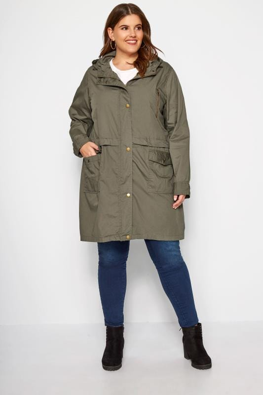 Khaki Zip Through Jacket