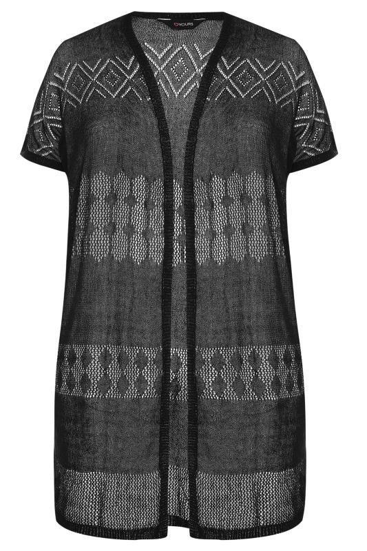 Black Fine Knit Long Cardigan