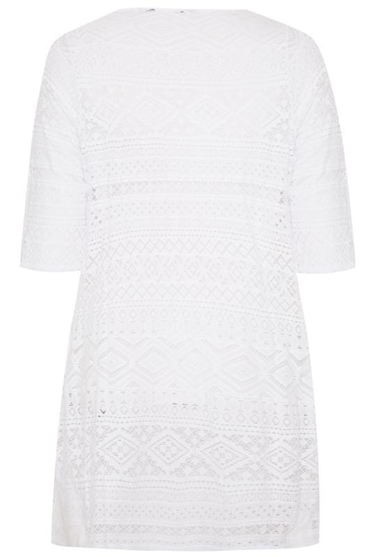 White Crochet Tie Front Cover Up