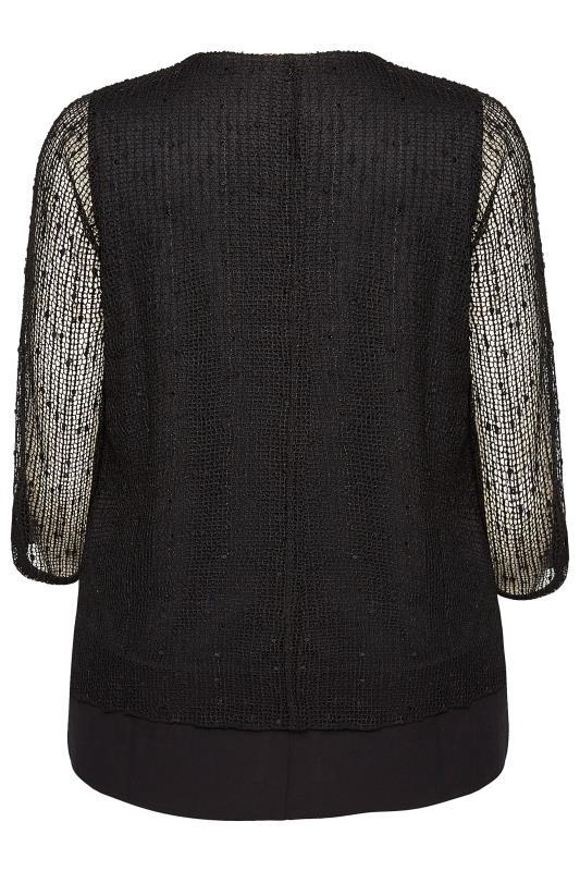 Black Layered Crochet Top