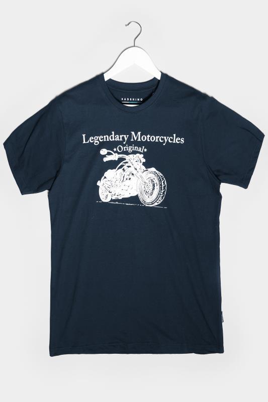 Men's Beauty BadRhino Navy Legendary Motorcycles Graphic Print T-Shirt