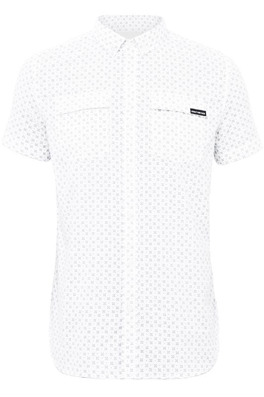 Plus Size Casual Shirts LOYALTY & FAITH White Printed Shirt