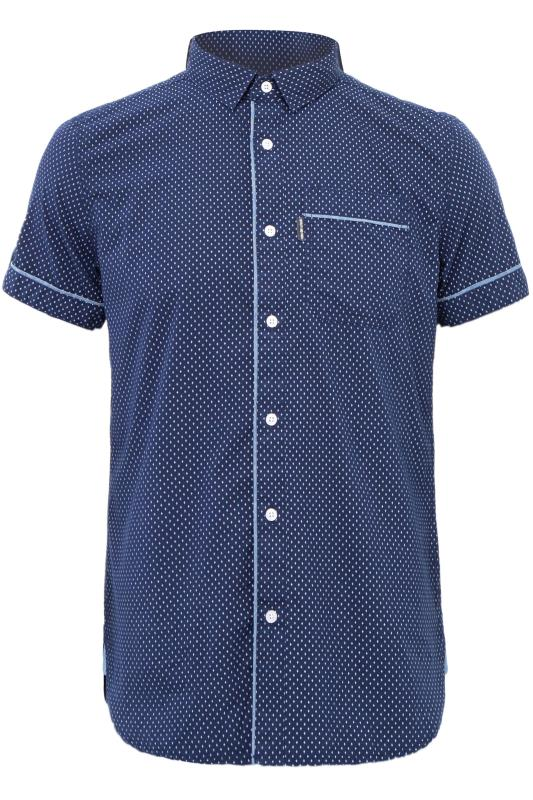 Casual Shirts Grande Taille LOYALTY & FAITH Navy Printed Shirt