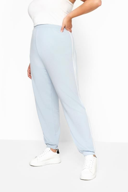 LIMITED COLLECTION Baby Blue Side Stripe Joggers