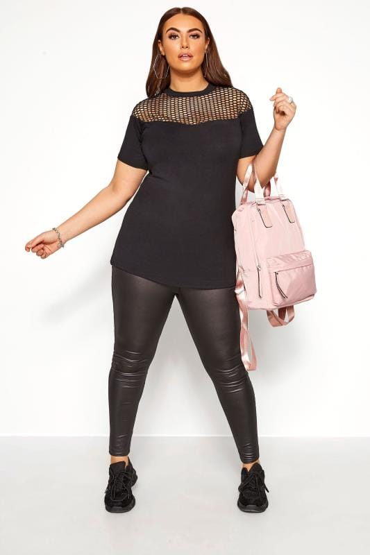 LIMITED COLLECTION Black Fishnet Insert Top