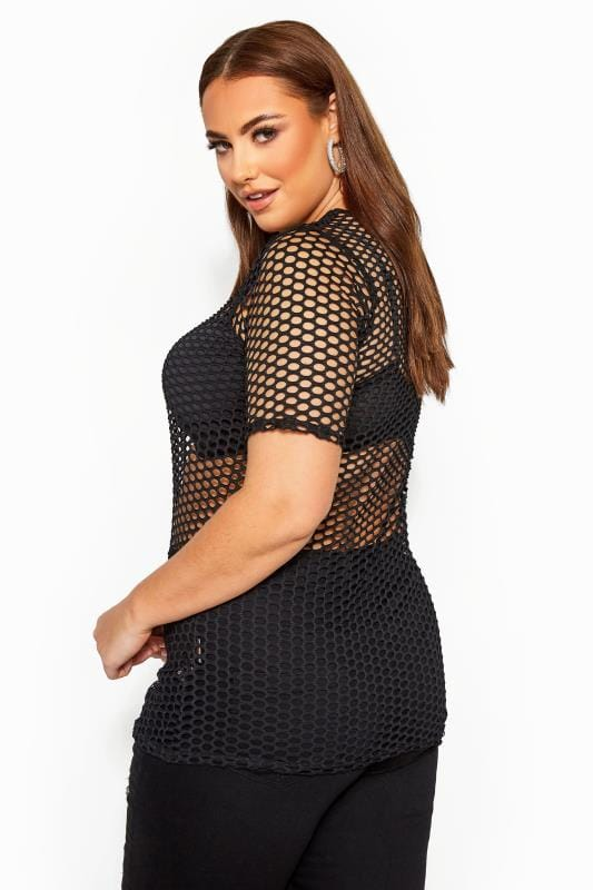 LIMITED COLLECTION Black Fishnet Top