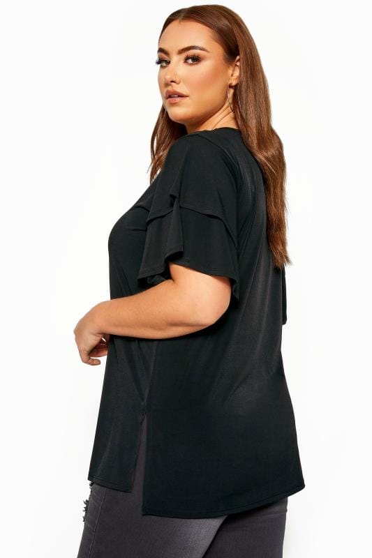 LIMITED COLLECTION Black Flared Angel Sleeve Top