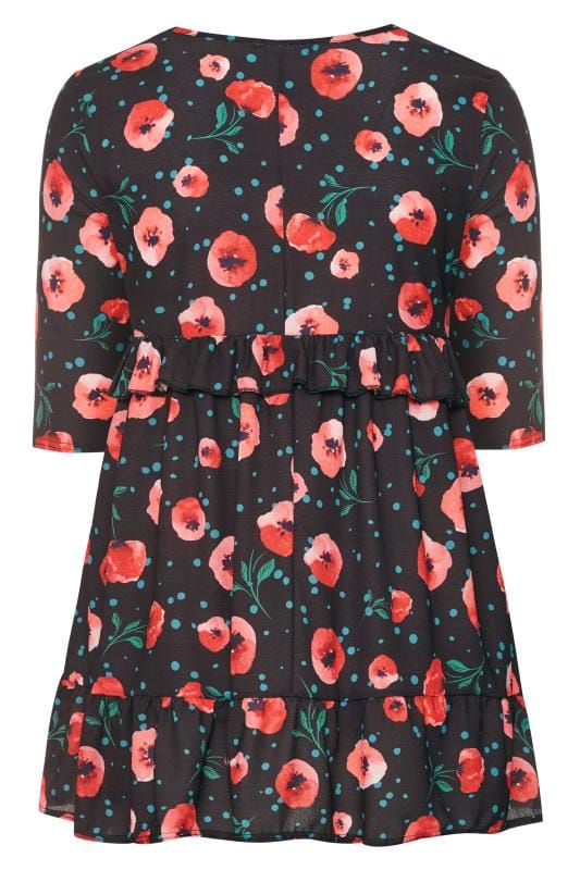 LIMITED COLLECTION Mini-Blumen-Kleid - Schwarz